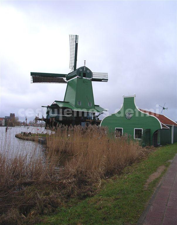 Větrné mlýny Holandsko, cestování s dětmi