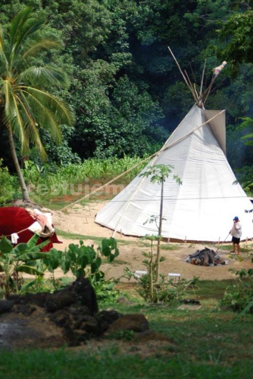 indianský chrám a sauna