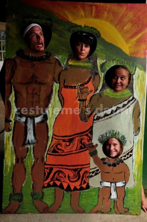 loučení s havajskou rodinou