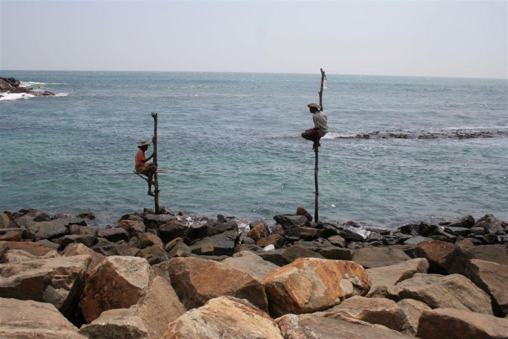 rybáři na kůlech