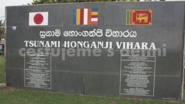 památník tsunami Honganji Vihara