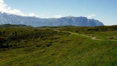 planina Puflatsch, pohled na Schlern