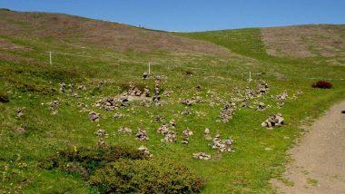 planina Puflatsch, kamenné pyramidy