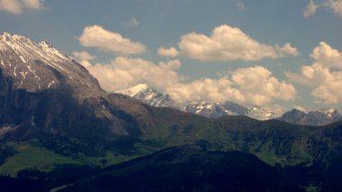 planina Puflatsch, výhled na Marmoladu