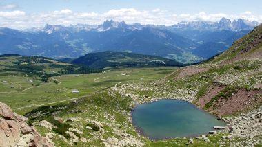 pohled na Totensee během výšlapu