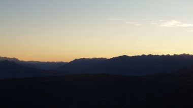 západ slunce na Sarner Bivaku