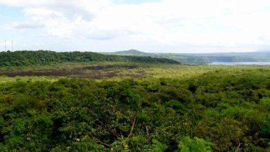 lávová krajina v Nikaragui
