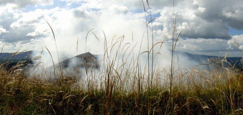 kouřící kaldera