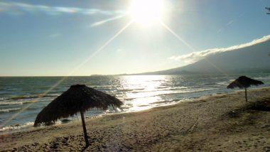 pláže u jezera Nikaragua- kdo by řekl, že je ta voda sladká!