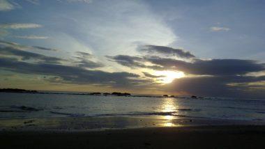 západ slunce nad Pacifikem