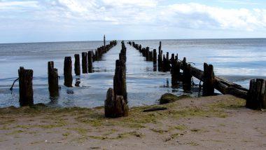 zbytky z přístavního mola