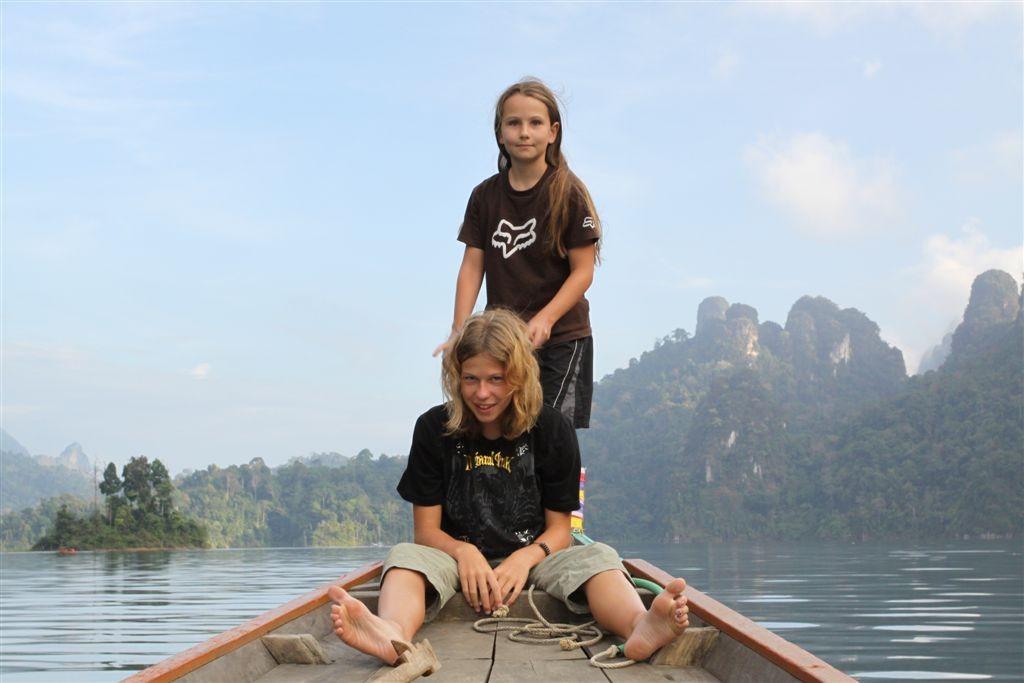 cestování s dětmi Asie - Thajsko Kaho Sok