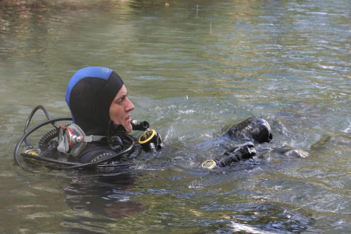 potápěči Lom Borek