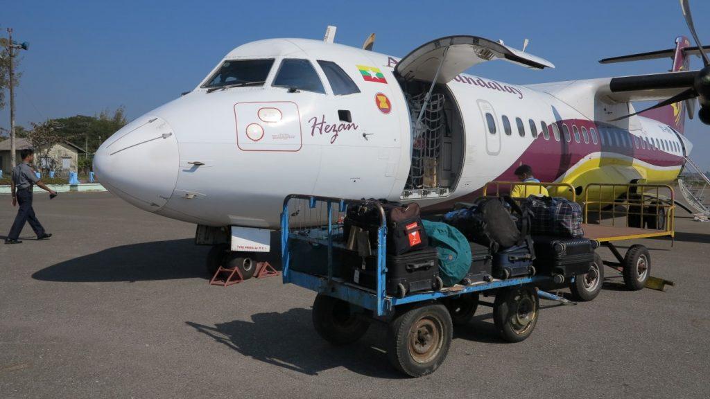 letadlo Yangoon -Sittwe