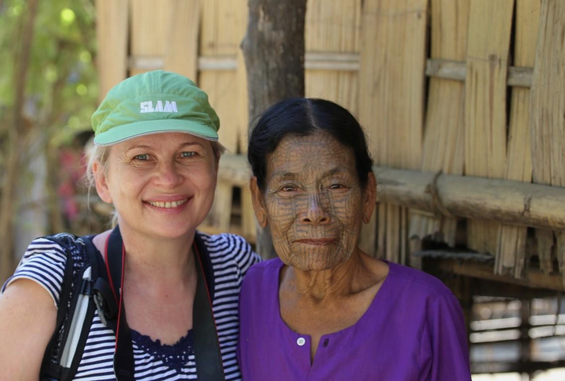 tetované ženy provincie Chin v Barmě
