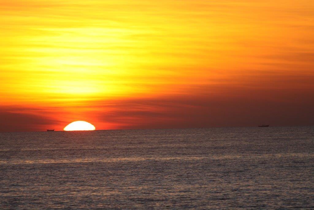 západ slunce nad Ngapali