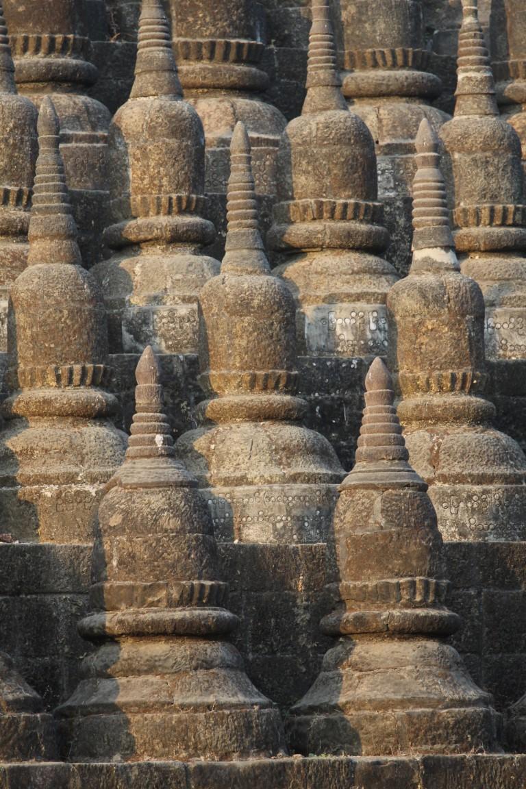 chrám Kothaung ve městě Mrauk U , Barma