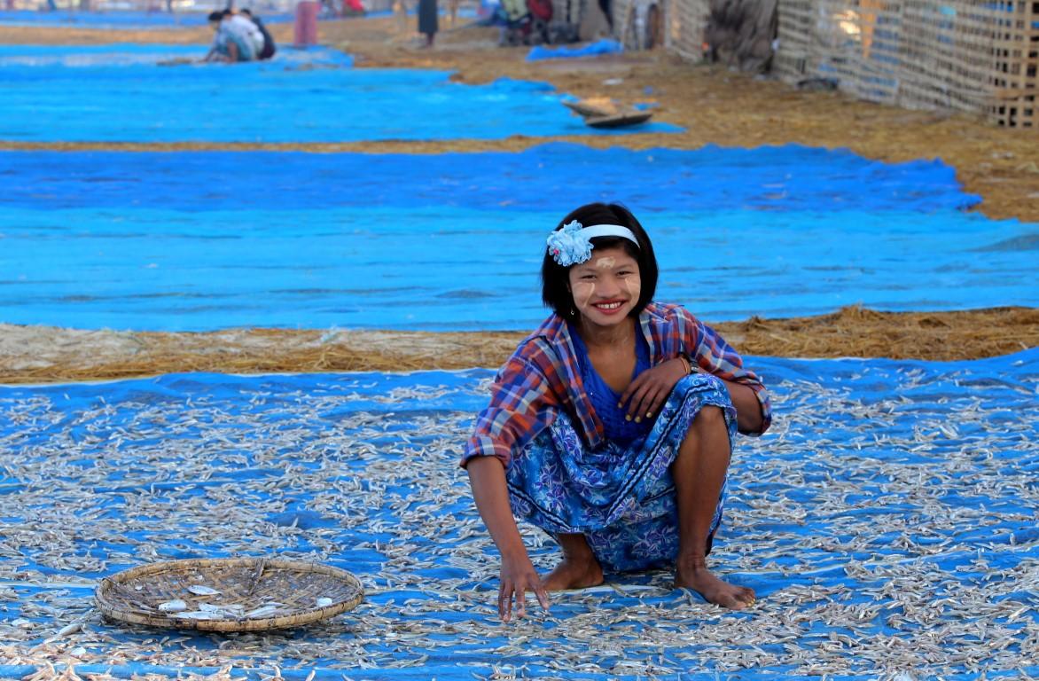 rybářská vesnice Ngapali
