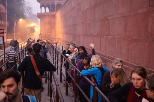 čekání na Taj Mahal