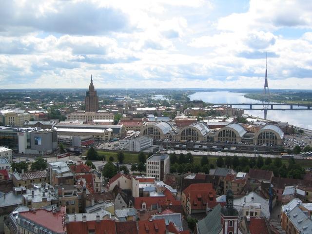 výhled z kostela Sv.Petra