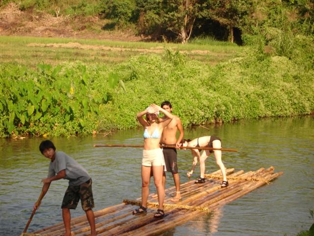 rafting na bambusových vorech