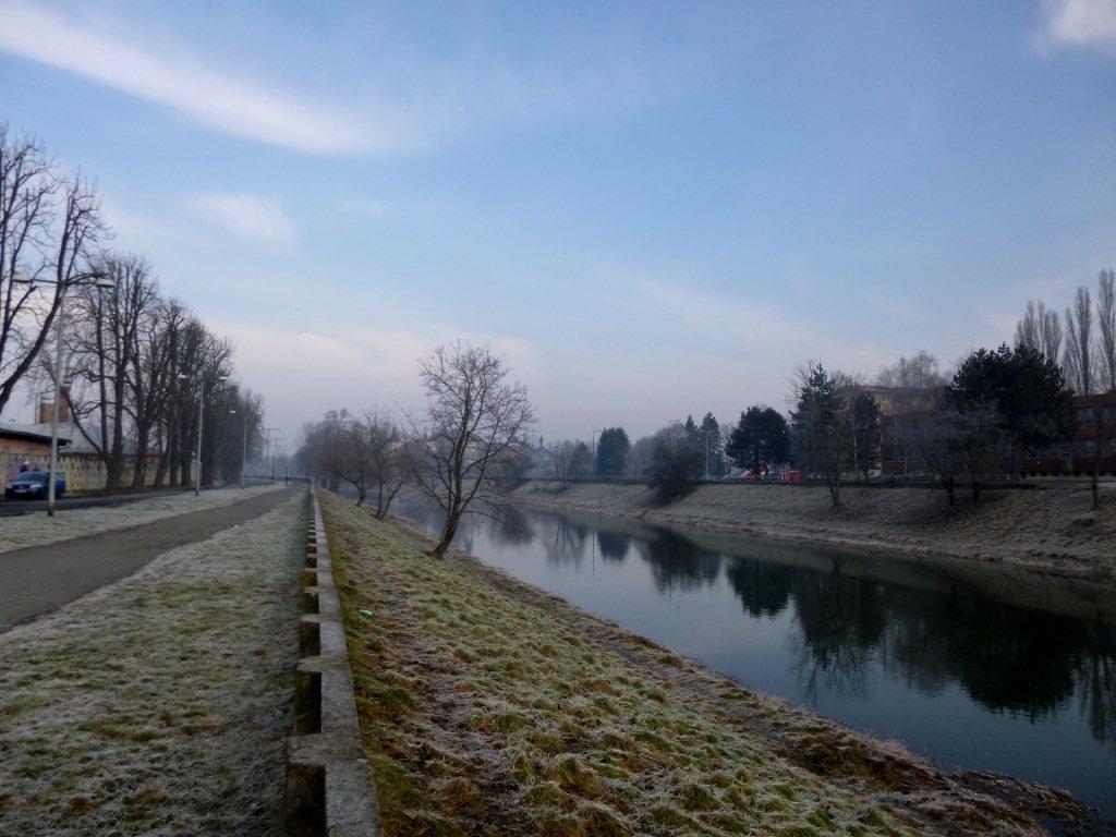 ranní řeka Morava