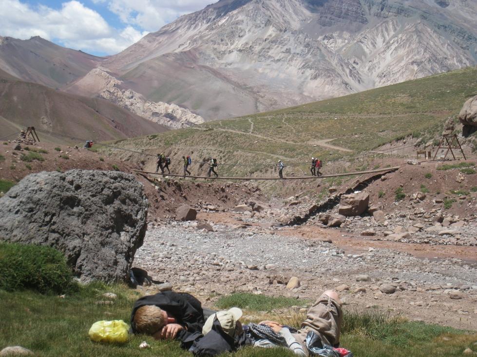 na cestě v oblasti  Seven Summits