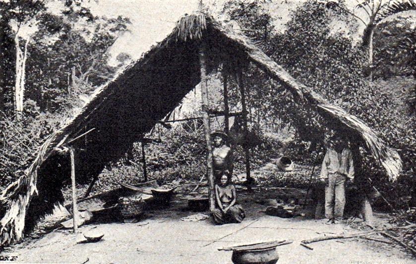 indiánská kuchyň na březích Brazílie