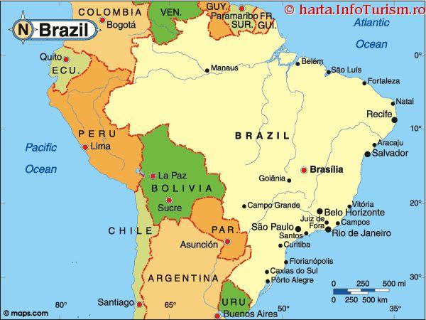 mapa Brazílie