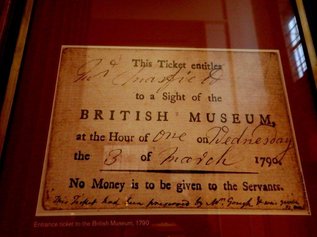 vstupenka do British Museum