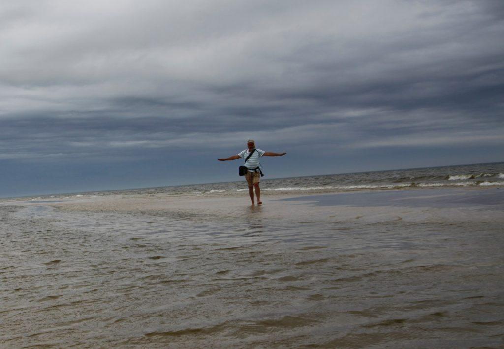 baltské pobřeží  levitující Honza Slowinský NP