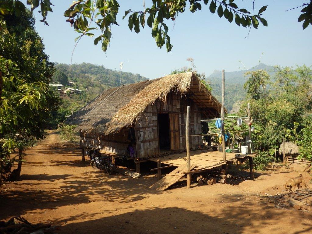 v horské vesnici