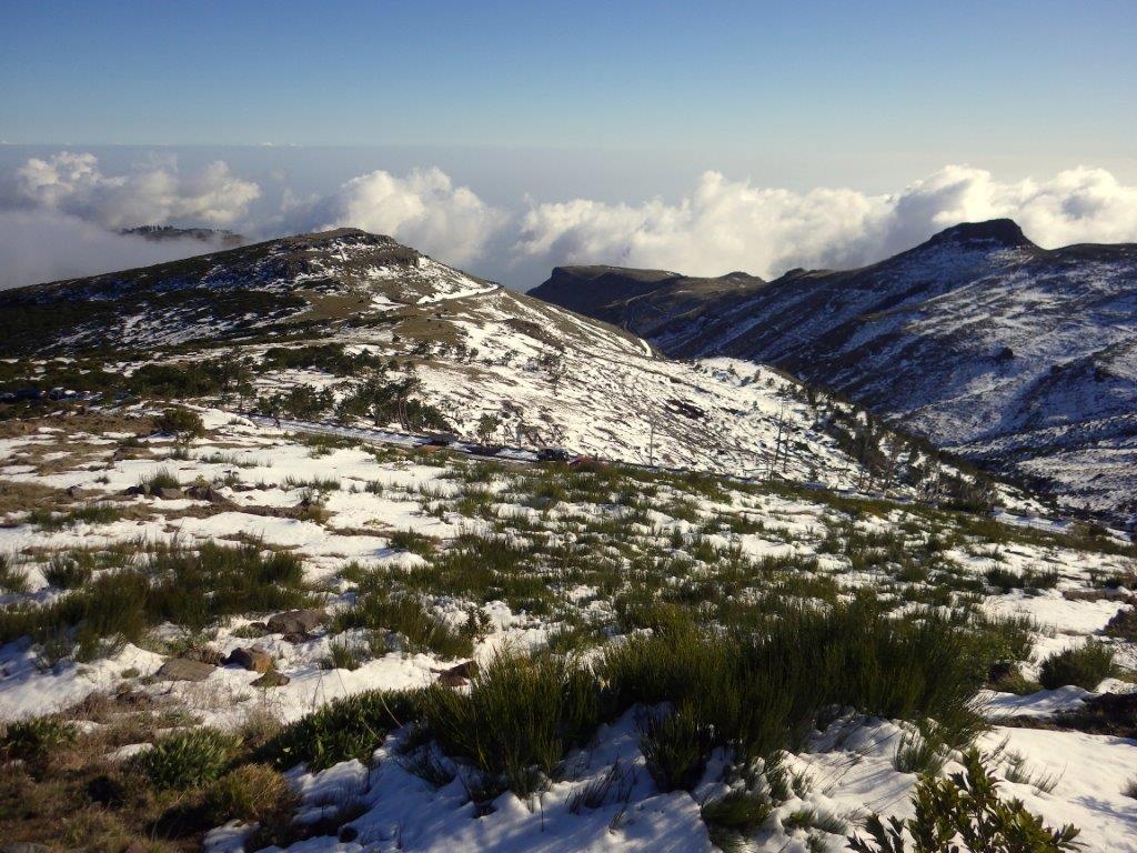 zavřená cesta na Pico Arieiro