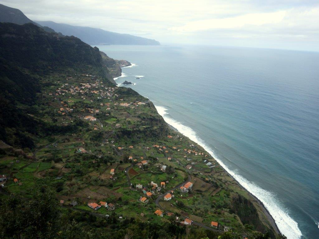 vyhlídka na severním pobřeží Madeiry