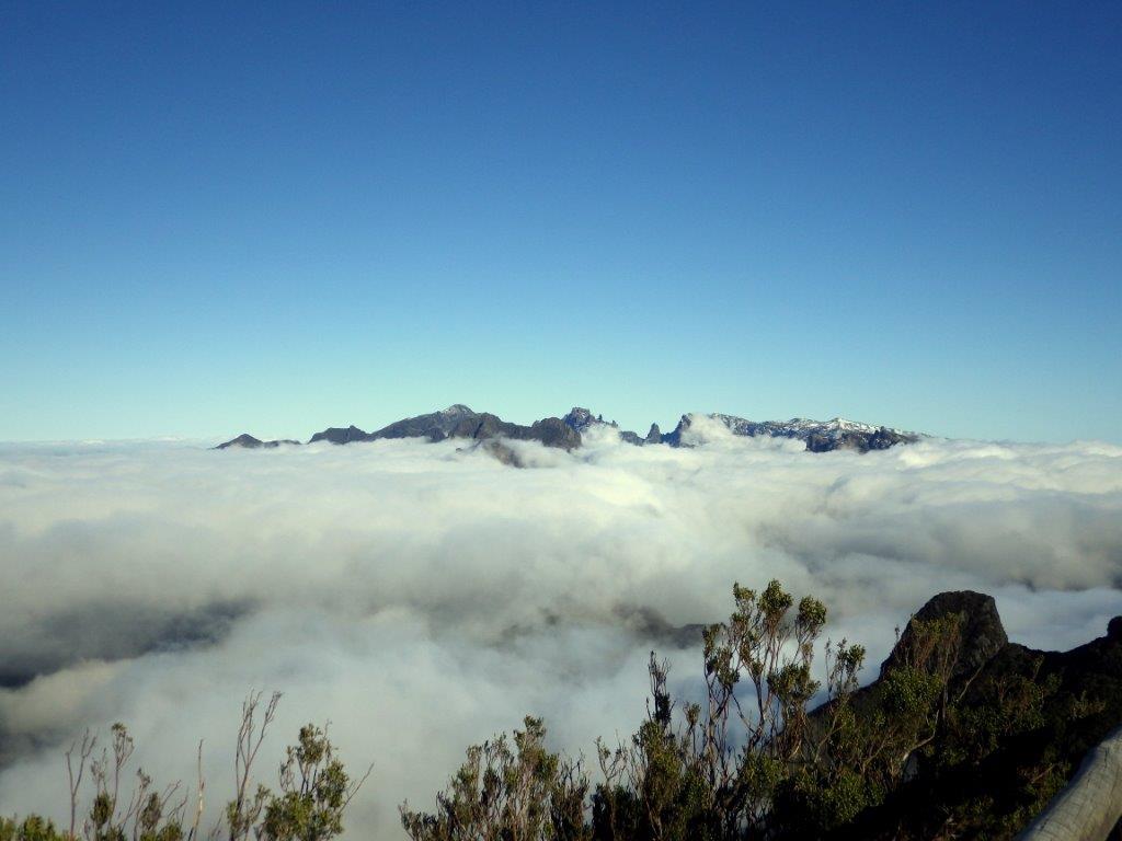 výhledy na nejvyšší madeirské vrcholky