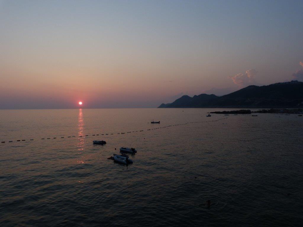 západ slunce v Dobre Vode