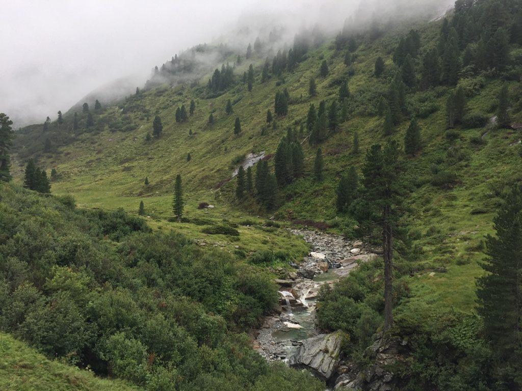 Míříme k Alpenrose Hütte