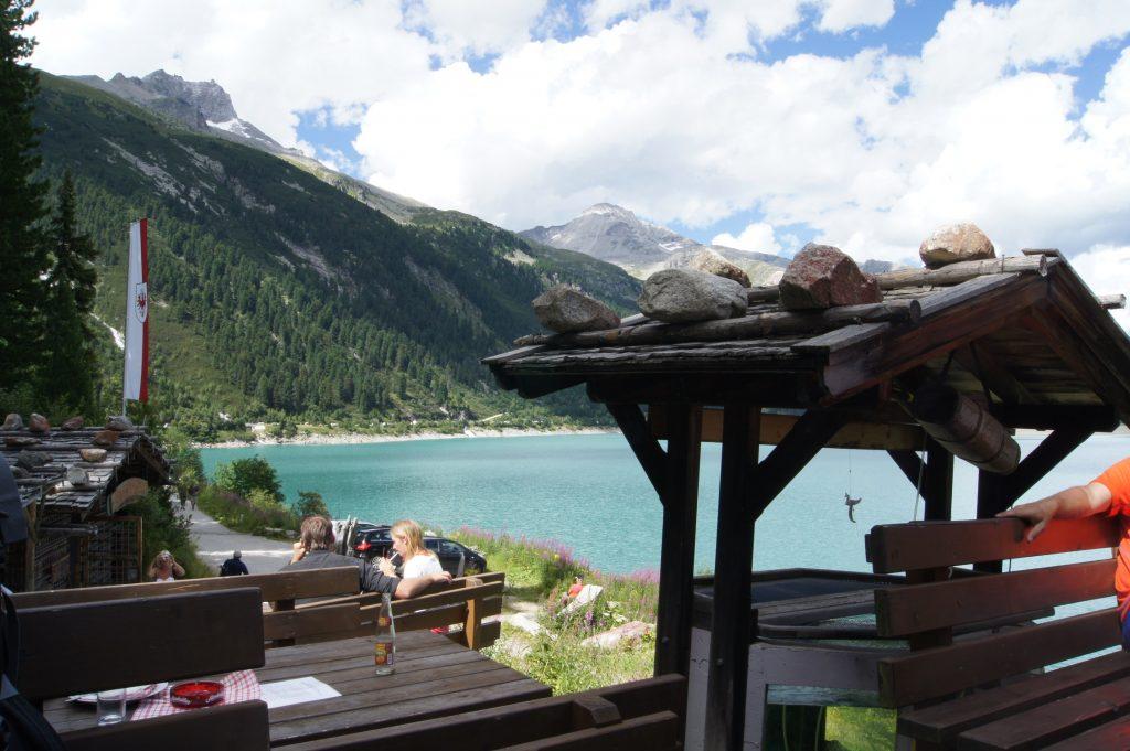 Výhled z rybí restaurace