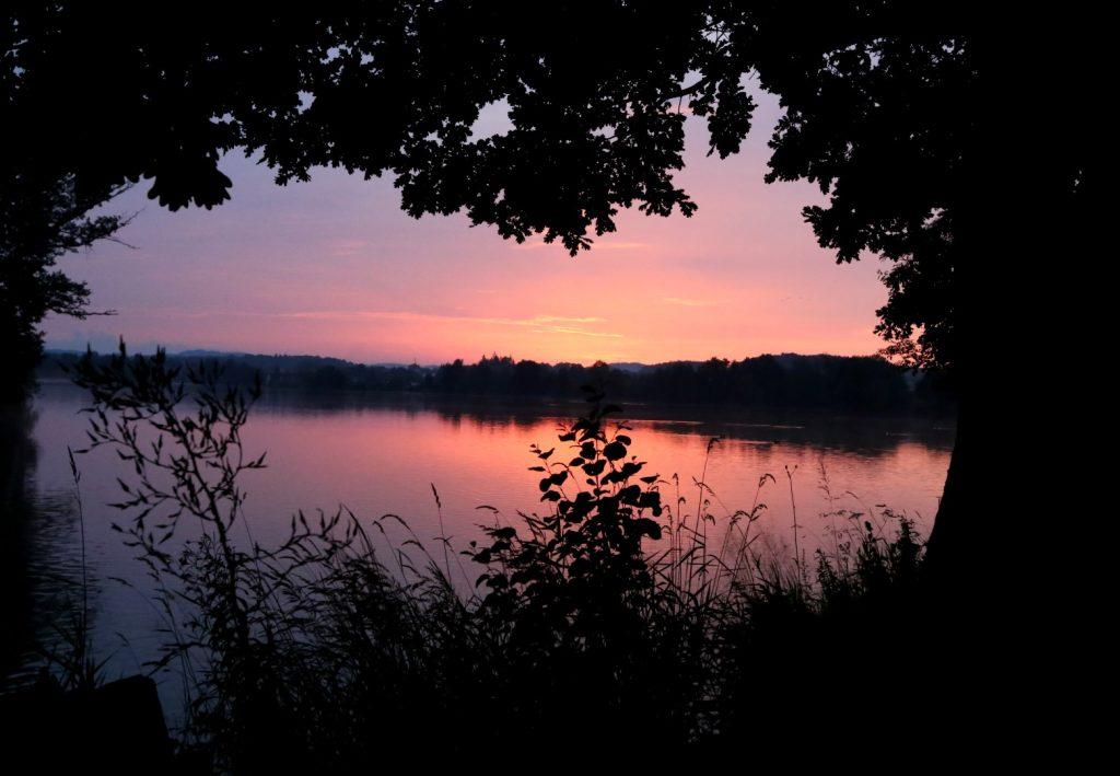 západ slunce Dolejší rybník