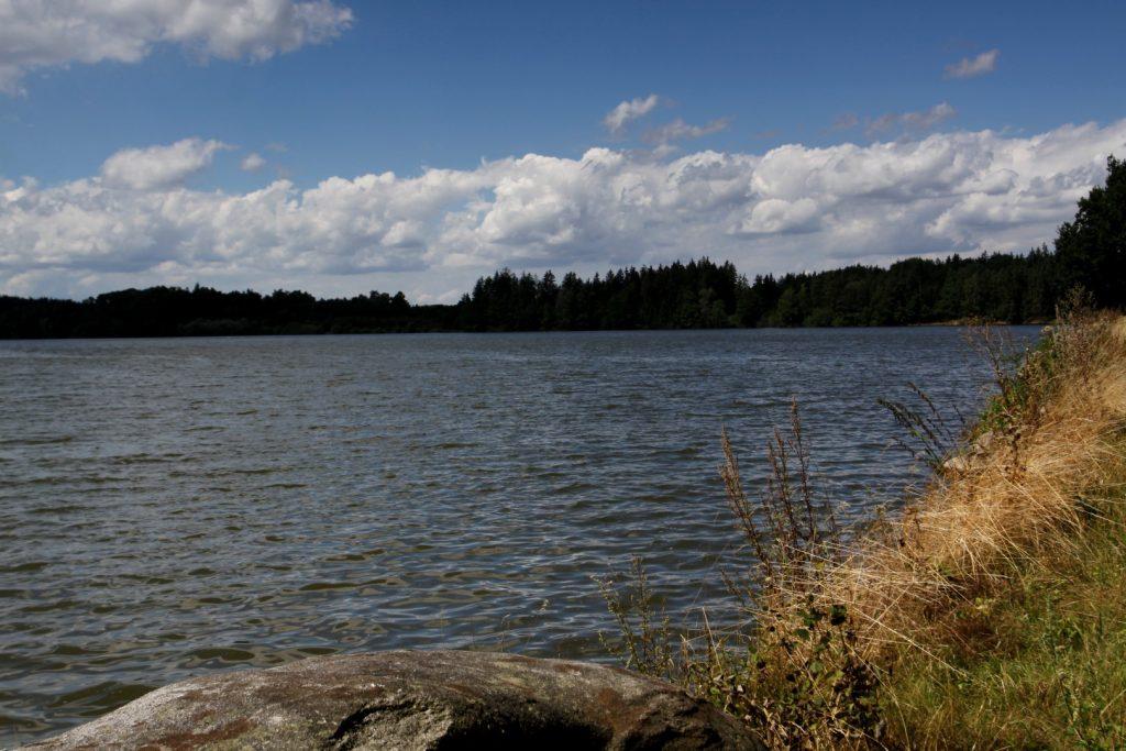 Rybník Velký Pálenec s táborem Vrbno