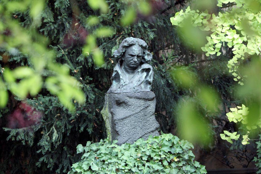 Socha Beethovena v zahradě Beethovenova domu, copyright_Sonja Werner