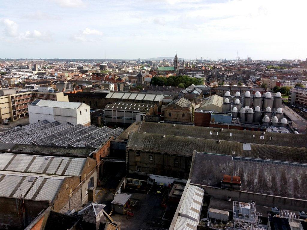 výhled na Dublin