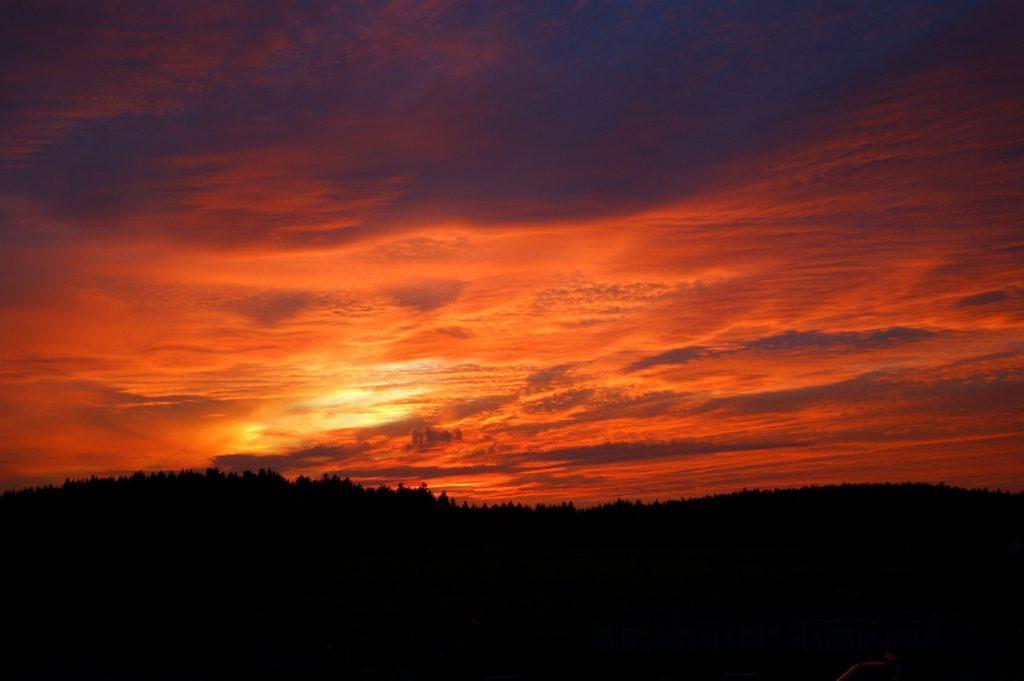 západ slunce Bison ranch
