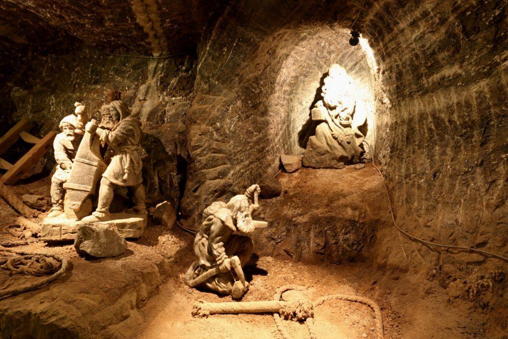 důl Bochnia - sochy ze soli