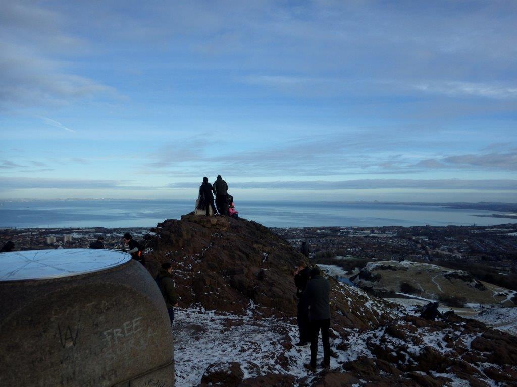Holyrood Park a vrchol Arthur´s seat