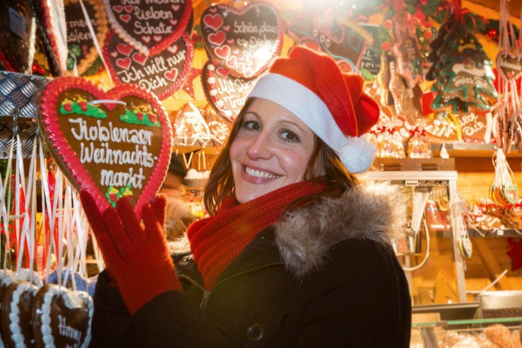 Tradiční perníkové srdce na kobleneckých trzích, copyright Koblenz Touristik